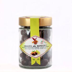 dragees-alle-mandorle-Ricoperte di cioccolato fondente